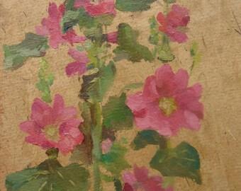 VINTAGE ART Original Oil Painting by Soviet Ukrainian Russian artist Pushnikova G. 1960s, Signed, Flowers painting, Floral picture