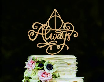 Harry Potter Wedding Cake Topper Always Cake Topper Harry Potter Cake Decorations Love Cake Topper Always