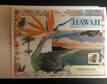 Card Handmade/Hawaii Collage