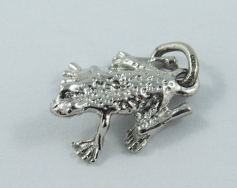 A Frog Sterling Silver Charm or Pendant.