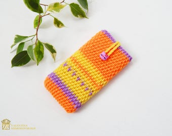 Cell Phone Case-iPhone 7.Cell Phone Covers. Samsung Galaxy Case,Knit Phone Sock, iPhone Sleeve, iPhone Sock, all mobile sizes. Modern Gift.