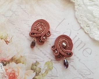 Soutache Earrings - Dangle Earrings - Handmade Earrings - Fashion Earrings