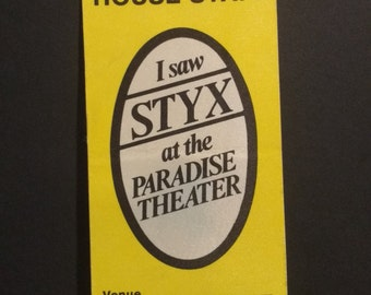 Styx Paradise Theatre Satin Backstage Pass! Authentic Vintage 1981! Styx ~ Paradise Theatre Satin Backstage Pass Unused/Intact