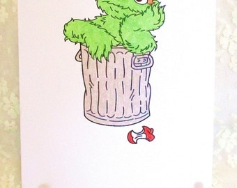 Oscar the Grouch Card : Add a Greeting or Leave Blank