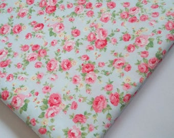 Victorian Rose Garden Cotton Fabric Fat Quarter