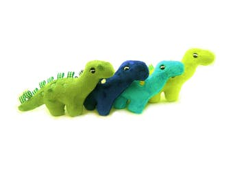 Dinosaur taggy toys.Party bag toys. Cuddly dinosaur.  Handmade dinosaur. Plush dinosaur by Exclusively Handmade.