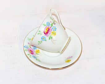 Bell China Teacup & Saucer Signed - 1185
