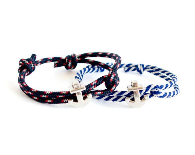 Mens Anchor Bracelet, Nautical Bracelet, Father Son Matching Anchor Jewellery