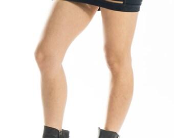 TIME DIALATION Black Mini Skirt