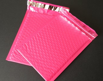 10 6x9 Hot Pink Bubble Mailers Size 0 Self Sealing Shipping Envelopes Valentine Spring Easter