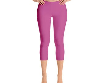 Capris - Mulberry Leggings, Womens Yoga Clothes, Yoga Leggings, Workout Yoga Pants