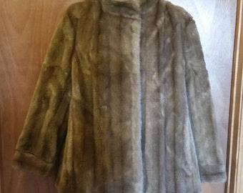 Faux fur coat/dubrowsky and joseph faux fur coat/dubrowsky and joseph tissavel/vintage faux fur coat