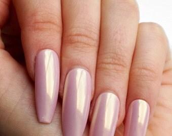NUDE FAIRY DUST Luxury Press On Nails