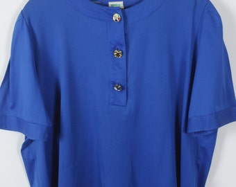 Vintage Top, 90s Shirt, 90s clothing, blue, oversized