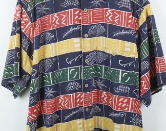 Vintage shirt 80s maritime oversized