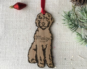 Goldendoodle personalized Christmas Ornament - labradoodle - custom pet gift for dog lover - pet remembrance gift - puppy's first Christmas