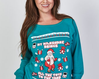 My Milkshake Brings all the Toys to the Yard © - Women and Mens Ugly Christmas Sweater - Funny Christmas sweater