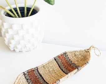 Woven African Tray/ Wall Hanging | Individual or Set of 3 or Set of 6