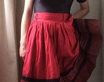 Vintage 'Spanish Flamenco Dancer' Costume, UK 8