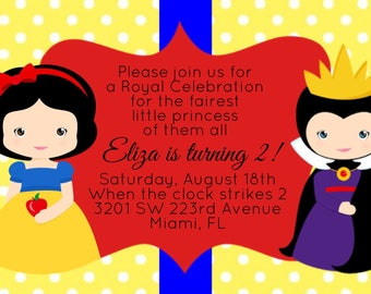 Snow White Invitations, Cute Snow White, Evil Queen, Disney Princess