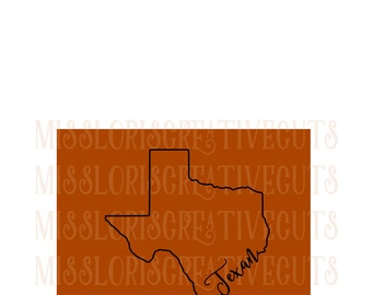 Texan  outline SVG Cut file  Cricut explore file Car decalscrapbook vinyl decal wood sign cricut cameo t shirt design cardstock