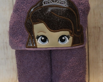 Amulet Princess Hooded Towel -Toddler Towel - Kids Bath Towel - Towel Wrap - Character Towel - Hooded Bath Towel -Girls Towel -READY TO SHIP