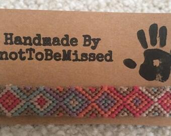 Handmade Woven Diamond Friendship Bracelet