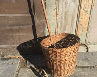 Antique Rolling Basket
