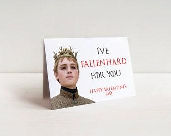 Game Of Thrones Valentineu0027s Day Card Printable Funny Love Romantic Card  Baratheon Wife Girlfriend Husband Boyfriend