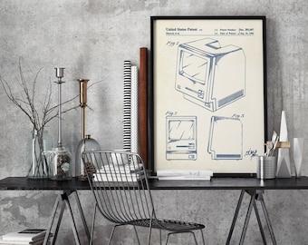 Macintosh patent,print,First Macintosh Computer Poster, Apple Computer Patent, Computer Art, Apple Poster, Technology Art #P375