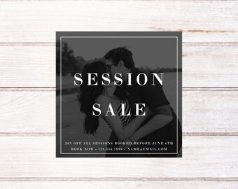 Photography Sale Marketing Board, Photography Minis Marketing Board, Photography Marketing Template, Mini Session Template