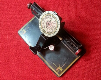 Vintage Dial Typewriter Marx Toy Games Antique Art Deco Office Decor
