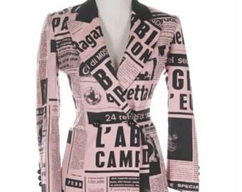 """Moschino jacket Vintage, """"la Gazzetta dello sport"""" , 90""""s , edizione limitata"""