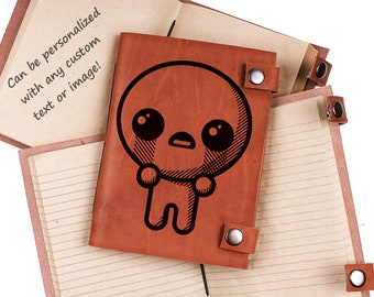 The Binding of Isaac, Isaac journal, personalized leather journal, custom notebook, gift for gamers, leather gifts, Leather journal