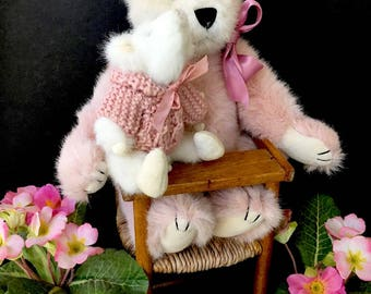 "Adorable Soft Pink Teddy Bear ""Rosie"""