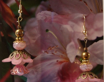 Lucite flower earrings