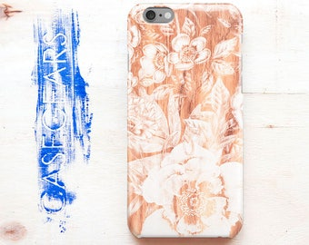Wood iPhone 7 Plus Cover Flowers iPhone 6 Case iPhone 5S Case Wooden Case iPhone Glossy Cover Case For Samsung S7 Galaxy Case S7 Matte Phone