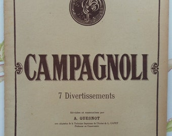 CAMPAGNOLI - seven divertimenti for violin - Paris 1916