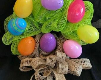 Easter Egg Basket Wreath