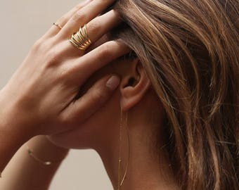 Statement gold ring, Minimalist high fashion ring, Dainty ring, Bold ring, Minimal ring, Gold 18k ring, Silver ring, trend gold ring