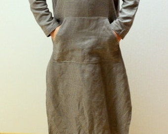 "Linen caftan.Men s caftan.Linen shirt long.Natural stonewashed Lithuanian linen men""s shirt.gift for him.designed and made by Anberlinen"
