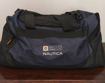 1 DOLLAR SHIPPING // Navy and Black Nautica Duffle bag