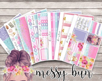 Messy Bun and Getting Stuff Done || Planner Stickers Kit