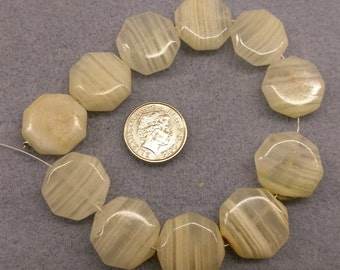 Afghan Jade 18mm Octagons beads semi precious beads