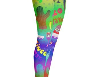 Cinco De Mayo Leggings - Cinco De Mayo Costume - Yoga Leggings - Patterned Leggings - Womens Leggings - Cinco De Mayo - Fifth of May