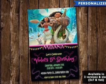 Moana Birthday Invitation - Moana Invitation - Moana Birthday Invite (Digital File Download)
