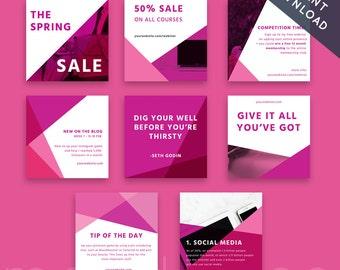 instagram template template instagram branding instagram post social media kit marketing kit modern