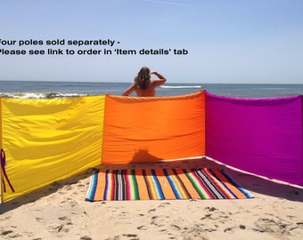 Windscreen - 4' - Yellow/Orange/Magenta - 6 yards - Privacy - Wind Blocker - Windshield - Camping - RV - Extend Season - Poles Sold Separate