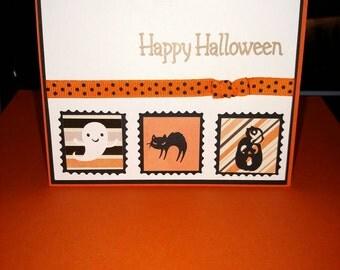 Cute stamp Halloween card
