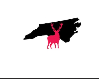 north carolina deer svg dxf jpeg png file stencil monogram frame silhouette cameo cricut clip art commercial use